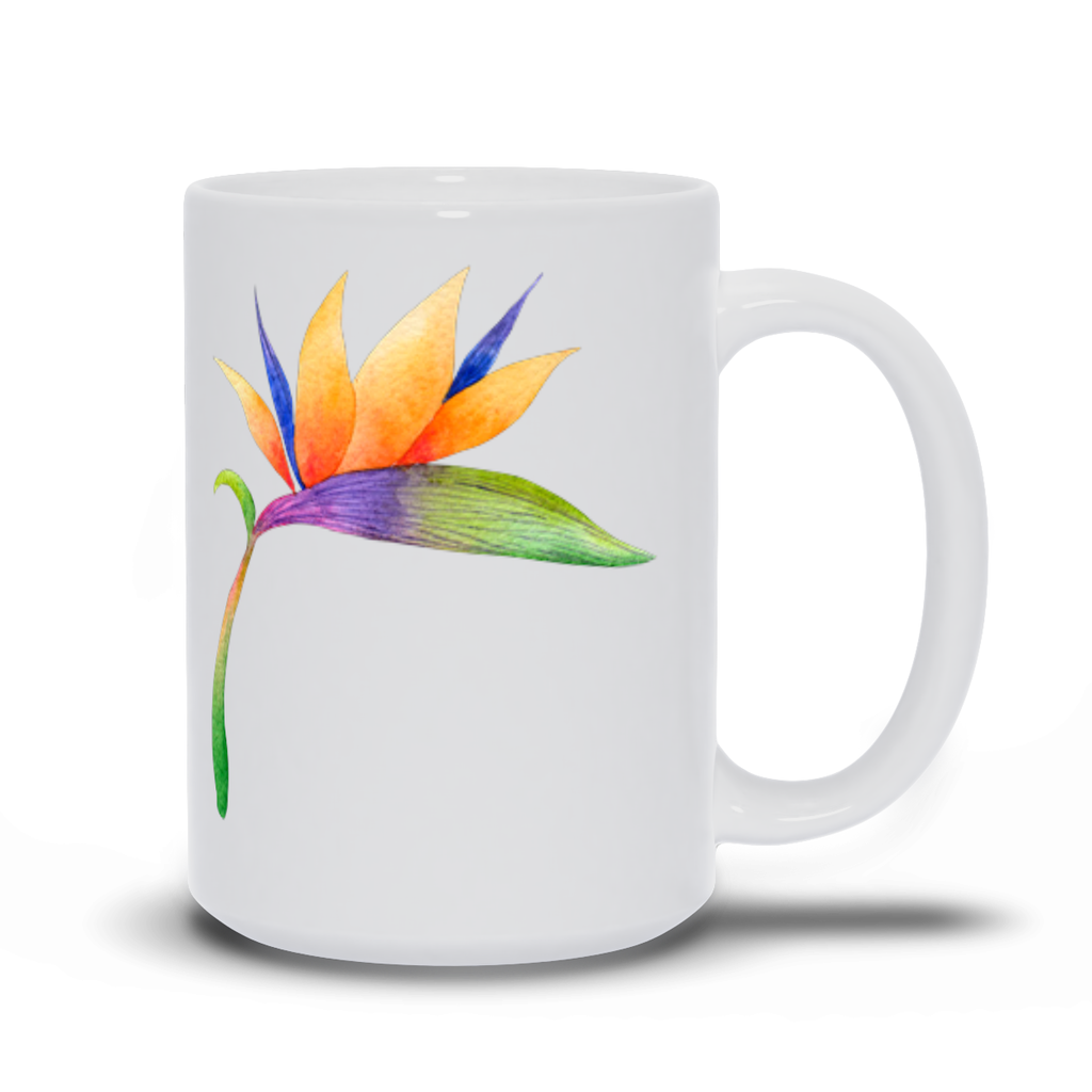 Birthday Gift for Mom Bird of Paradise Mug - Tropical flower for love