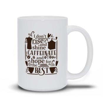 Gifts for Mom Birthday Mothers Day Mug Sayings-Caffeinate and hope for the best