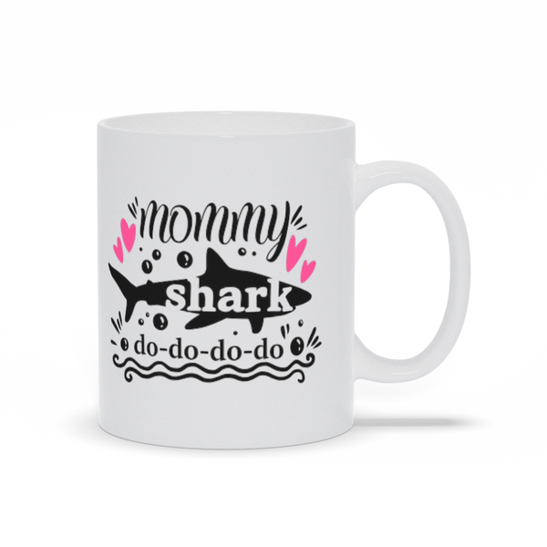 Gifts for mom - Mothers Day Moms birthday gifts - Mommy shark fun - funny mom mug sayings