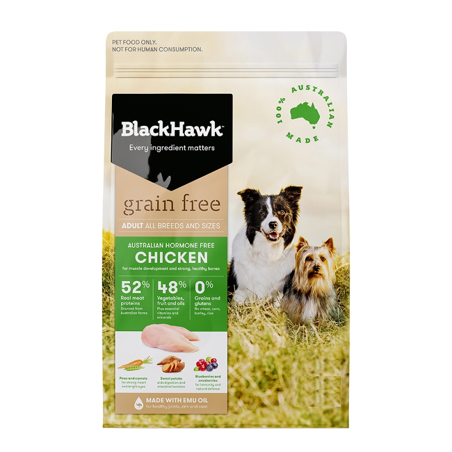 Black Hawk  Grain Free Dry Dog Food Adult Chicken 15Kg