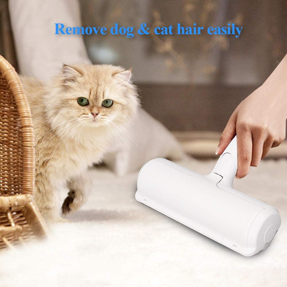 Pet Hair Remover Roller, Self-Cleaning Lint Roller - Dog & Cat Fur Remover for Sofa, Bed, Carpet, Furniture, Car Seat and More (Blue