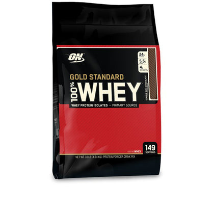 Optimum Nutrition 100% Whey Gold Standard 10Lbs - Double Rich Chocolate
