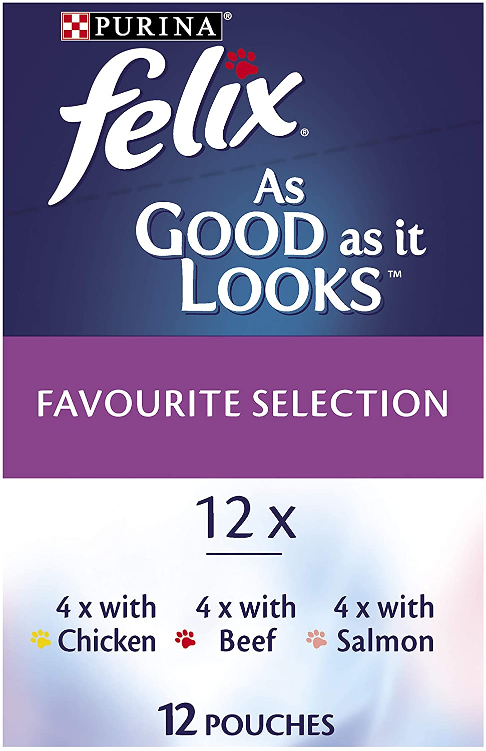 Felix As Good As It Looks - Favourite Selection, Adult and Senior, 60x85g
