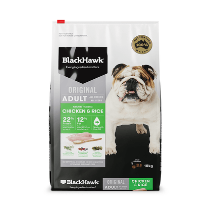 Black Hawk Dry Dog Food Adult Chicken and Rice 20kg