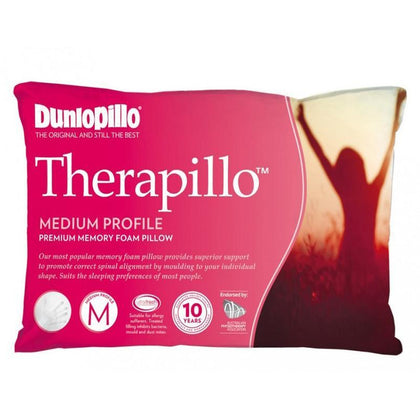 DUNLOPILLO Therapillo Memory Foam Medium Profile Pillow