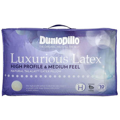 DUNLOPILLO Luxurious Latex High Profile Pillow & Medium Feel