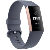 Fitbit Charge 3 Fitness Tracker - Rose Gold / Blue Grey