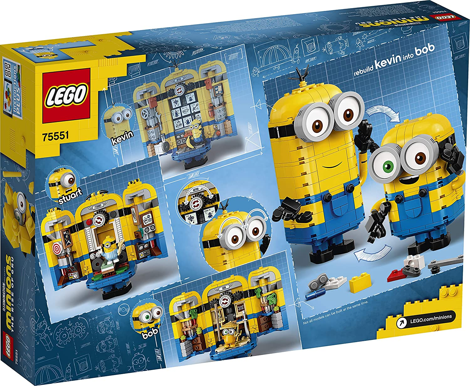 LEGO Minions Brick-Built Minions and Their Lair 75551 Building Kit