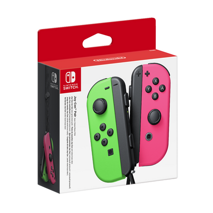 Nintendo Switch Joy-Con Neon Green and Neon Pink Controller Set
