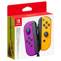 Nintendo Switch Joy-Con Neon Purple and Neon Orange Controller Set