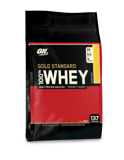 Optimum Nutrition 100% Whey Gold Standard 10Lbs - Banana