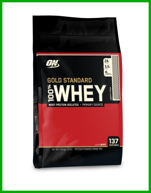 Optimum Nutrition 100% Whey Gold Standard 10Lbs - Cookies and Cream