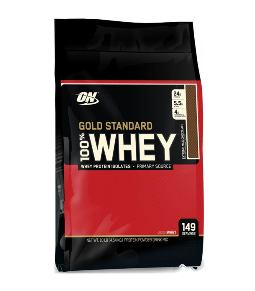 Optimum Nutrition 100% Whey Gold Standard 10Lbs - Extreme Milk Chocolate