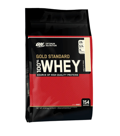 Optimum Nutrition 100% Whey Gold Standard 10Lbs - Strawberry