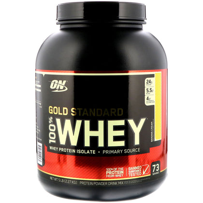Optimum Nutrition Gold Standard 100% Whey 5Lbs - Banana