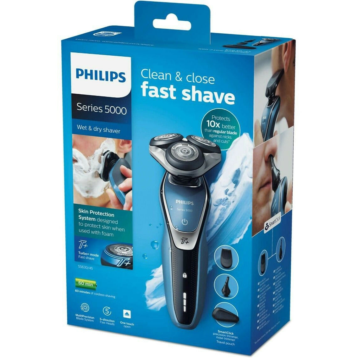 Philips Series 5000 MultiPrecision Wet & Dry Electric Shaver S5380/06