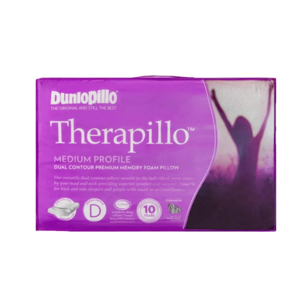 Therapillo Dual Contour Memory Foam Medium Profile Pillow