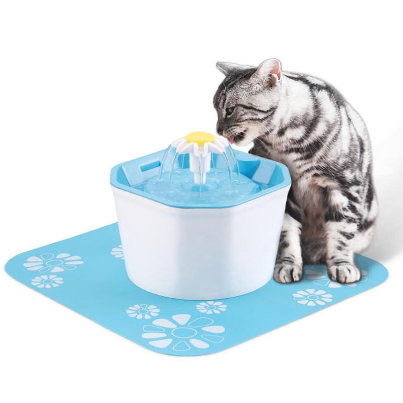 1.6L Electric Automatic Cat Fountain Drinking Water Dispenser Bowl