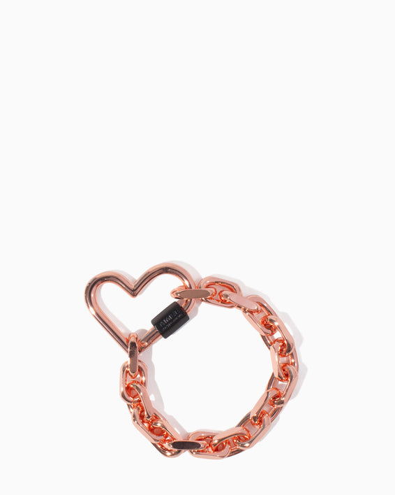 It's A Love Thing Heart Chain Bracelet Rose Gold - front