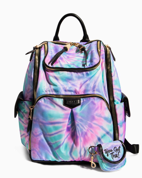 Baby Got Back Baby Bag - spiral tie dye front