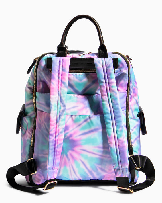 Baby Got Back Baby Bag - spiral tie dye back