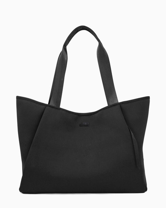 Care Free Neoprene Tote - black front