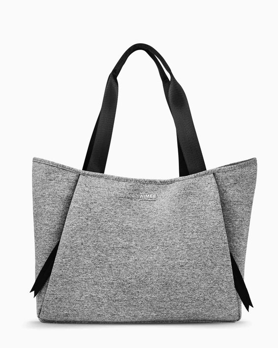 Care Free Neoprene Tote - grey front