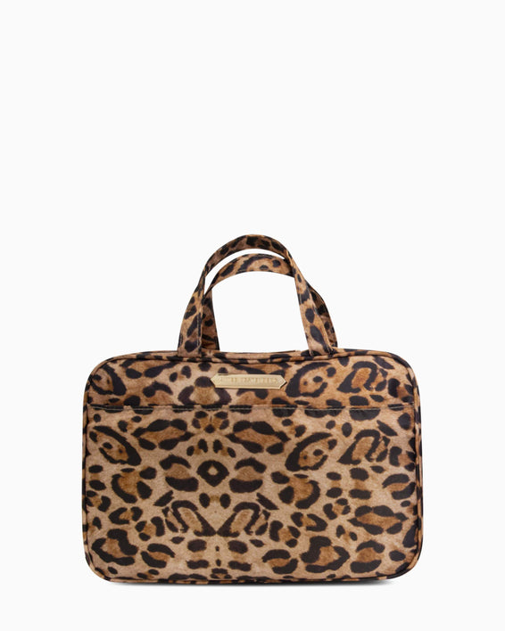Jenna Hanging Cosmetic Bag - leopard front