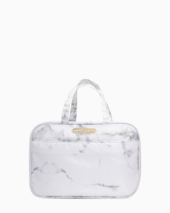 Jenna Hanging Cosmetic Bag - marble front