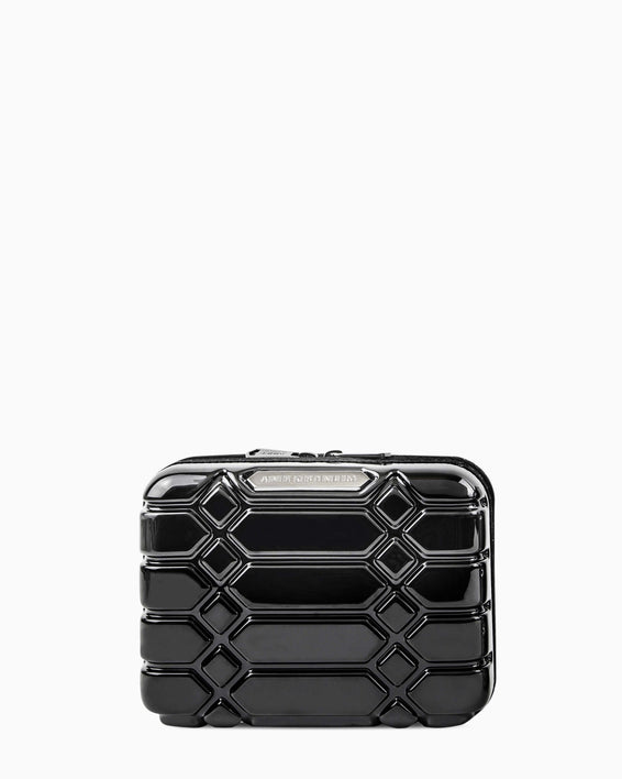 Small Hard Case Cosmetic Bag - black front