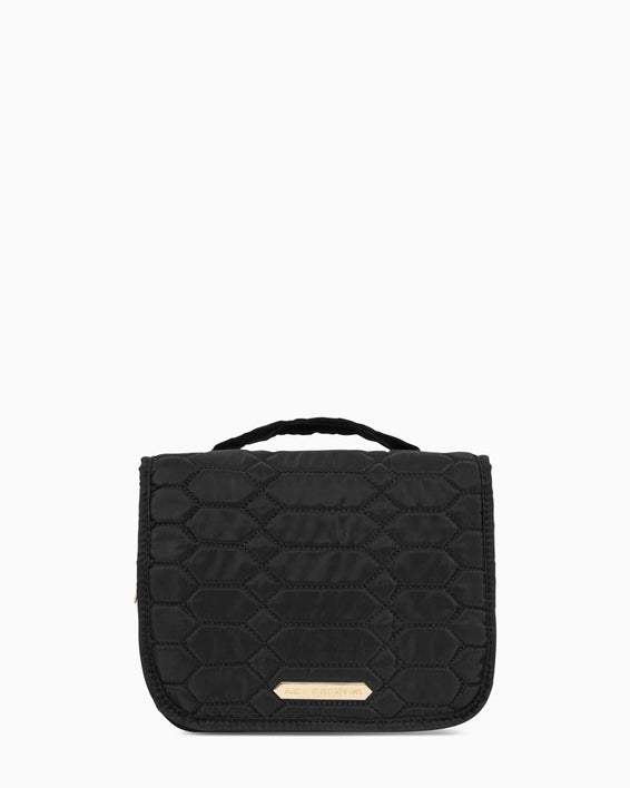 Sophia Hanging Cosmetic Bag - black front