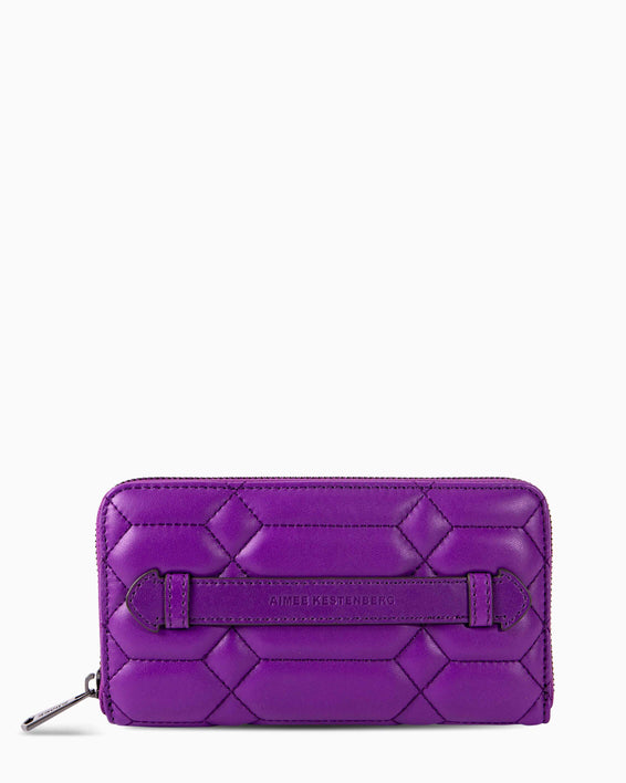 Dusk Till Dawn Large Zip Around Wallet - violet front