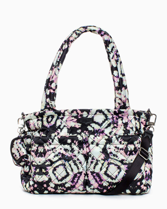 Jessie Baby Bag - tie dye digital front