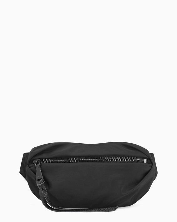 Milan Bum Bag - Black Nylon Front