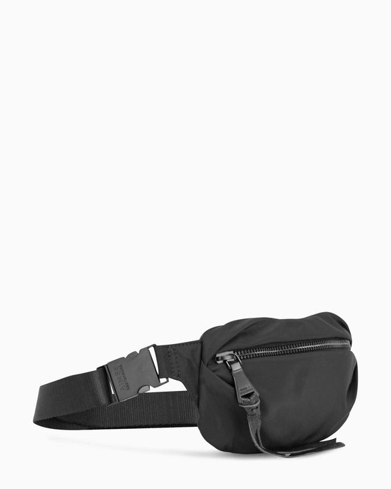 Milan Bum Bag - Black Nylon Side Angle