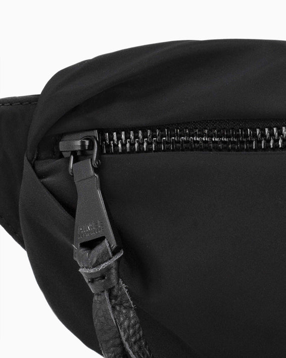 Milan Bum Bag - Black Nylon Detail