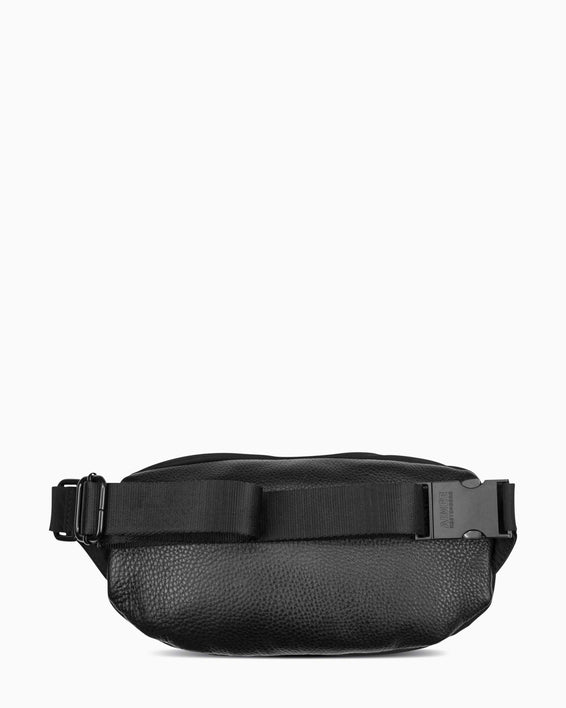 Milan Bum Bag - Black Nylon Back