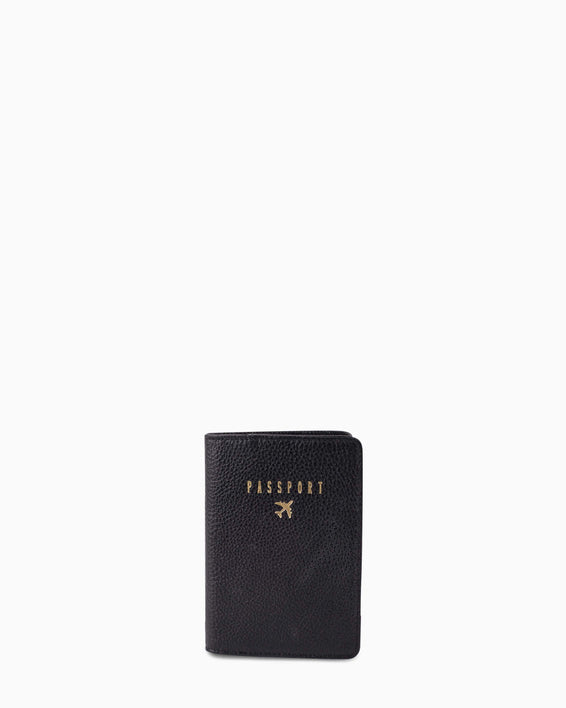 passport cover - black front