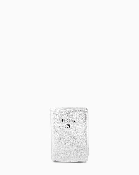 passport cover - silver front