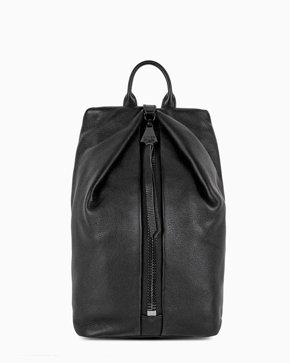 Tamitha Backpack - black with shiny black hardware front