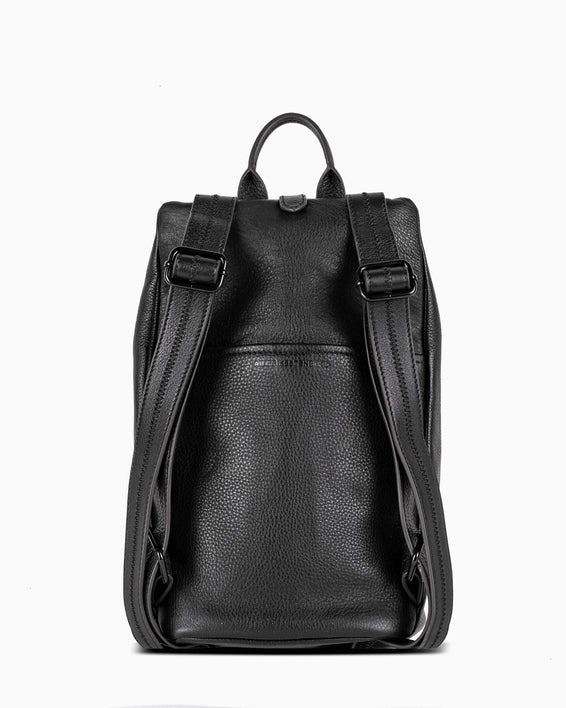 Tamitha Backpack - black with shiny black hardware back