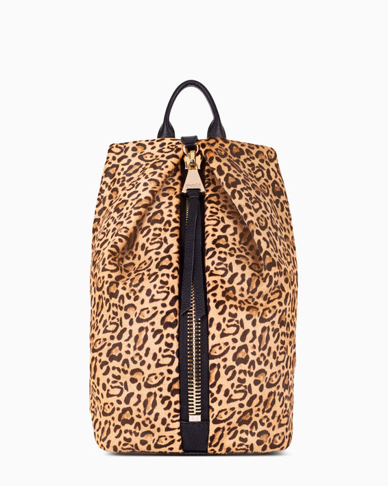 Tamitha Backpack - small leopard haircalf front