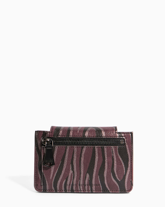 When In Milan Accordion Wallet Merlot Zebra - back