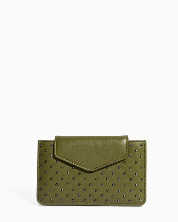When In Milan Accordion Wallet Olive - front