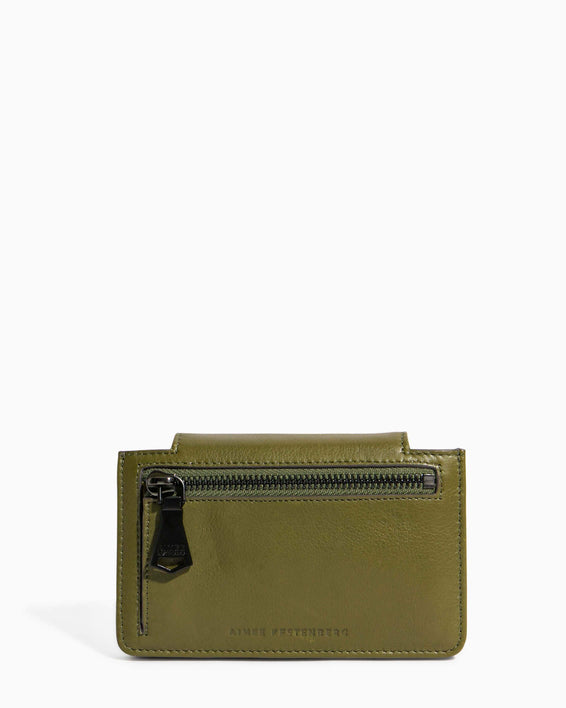 When In Milan Accordion Wallet Olive - back