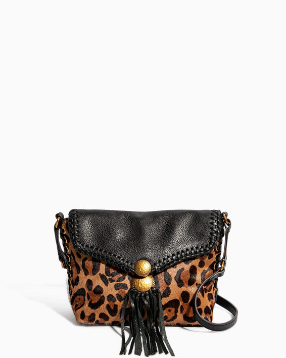 Always Boho Crossbody Large Leopard Haircalf - front