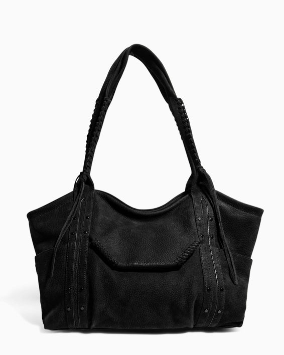 Always Boho Shopper Black Nubuck - front