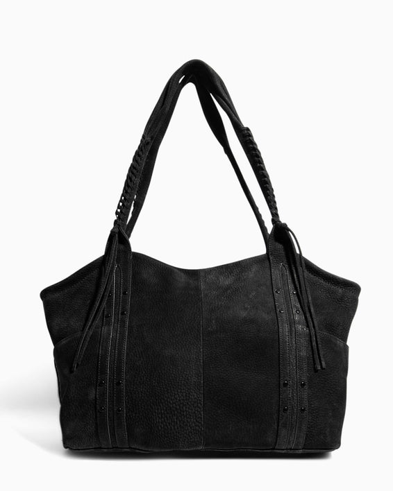 Always Boho Shopper Black Nubuck - back
