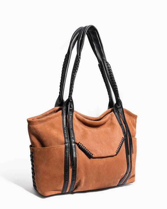 Always Boho Shopper Vachetta Nubuck - side angle