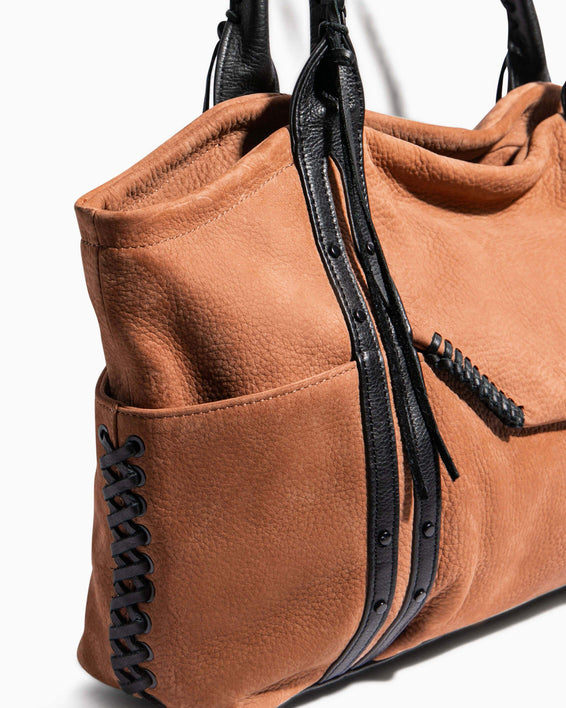 Always Boho Shopper Vachetta Nubuck - custom hardware detail